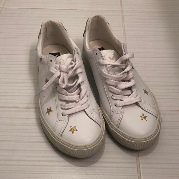 Veja Shoes | Veja White Sneakers Gold